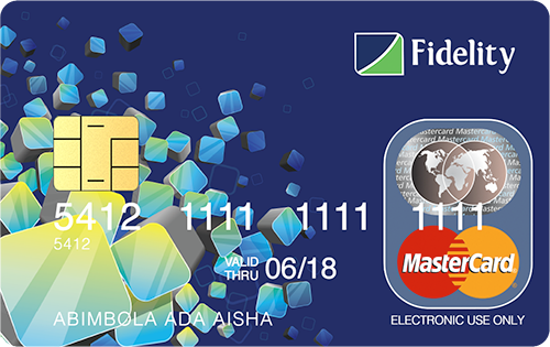 block Fidelity Bank ATM card